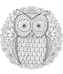 printable 19 owl mandala coloring pages 8932 hard owl coloring