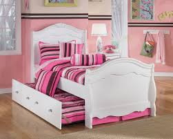 White And Pink Desk by Bedroom Design Pretty Trundle Beds Made Of Wood With Drawers In