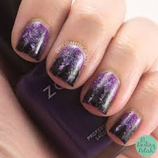 purple gradient with bridal nail bn05 the adorned claw 60 classy