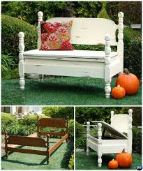 Garden Bench With Storage - 8 diy bed frame garden bench projects picture instructions