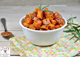 roasted sweet potatoes with honey and spices thanksgiving side