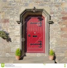red front door gothic red front door stock photo image 76075841