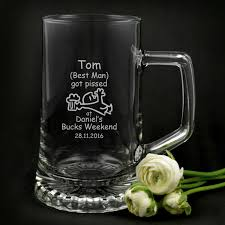Best Mug by Bucks Party Engraved 500ml Beer Mug Best Man Beer Stein Grooms