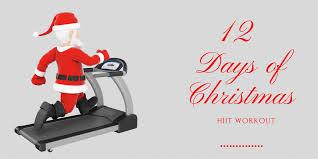 12 days of christmas hiit workout