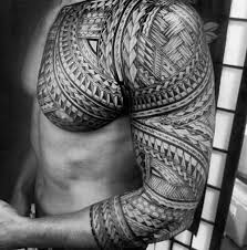 Chest And Half Sleeve - 50 polynesian chest designs for tribal ideas