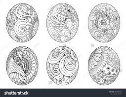 zentangle easter eggs coloring book stock vector 376002892