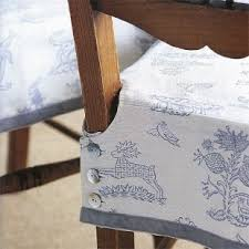 Dining Seat Covers How To Make A Buttoned Chair Cover Chair Slipcovers Kitchen
