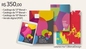 design foto livro catálogo da 12ª bienal de design gráfico 2017