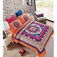 indian ethnic print duvet cover set quilt cover bed set with two