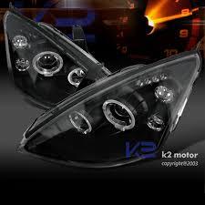 2003 ford focus headlight bulb 00 04 ford focus dual halo led projector headlights black