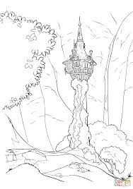 rapunzel u0027s tower coloring page free printable coloring pages
