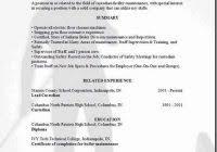 sample janitorial resume free resume builder