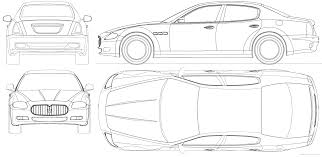 black maserati png car blueprints maserati quattroporte blueprints vector drawings