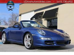 blue porsche convertible 2006 porsche 911 997 s cabriolet 6 speed blue top sport chrono