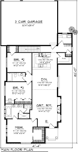 Duplex Floor Plans With 2 Car Garage by House Plan 97321 At Familyhomeplans Com