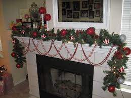 stone fireplace mantel christmas decorating ideas using wooden