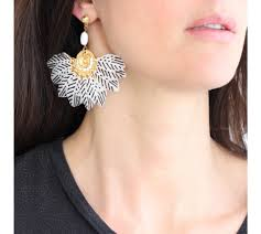 gas earrings gas bijoux feather gaia earrings colored earrings