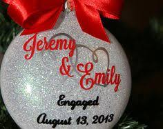 personalized ornaments wedding personalized engagement ornaments for the soon by sunshineceramics