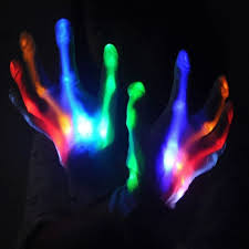 what is the hottest color 1pair multi color electro led flashing glove light up halloween