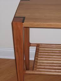 Hallway Table Handmade Cherry Hallway Table With Slat Shelf By David Naso