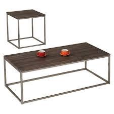 brushed nickel coffee table cecil coffee table walnut brushed nickel acme target