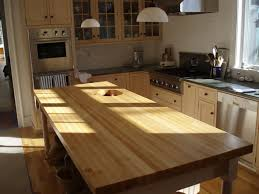 Wood Tops For Kitchen Islands Edge Grain Wood Countertops Custom