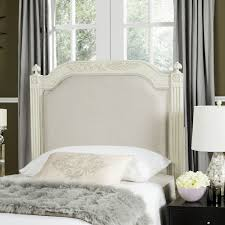 antique beige wood beige linen headboard headboards furniture by