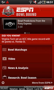 espn app for android espn bowl bound free android app android freeware