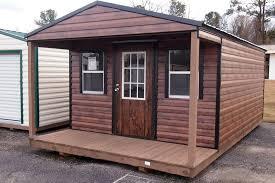 cedar brown porch hometown sheds