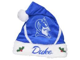 blue santa hat duke blue devils color block santa hat lids