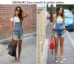 denim jumpsuit zara denim overall this is chic chic obsession