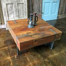How To Make Reclaimed Wood Coffee Table Square Modern Reclaimed Wood Coffee Table In Stock What We Make