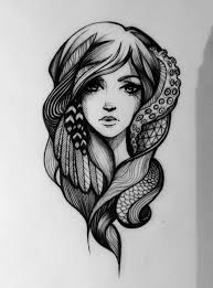 21 best sketches of women tattoo designs images on pinterest