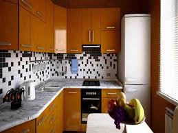 black white tile on wood cabinet for small kitchen paint color