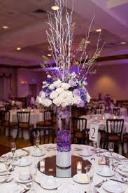 purple centerpieces stunning wedding color ideas in shades of purple and silver