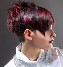 very short in back and very long in front hair very short hairstyle with a back that is longer than the front