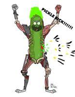 dress up pickle rick by kolmes on deviantart