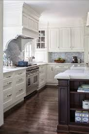 kitchens without islands contrasting island bench and overhead mantle without pillars home
