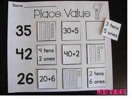 free worksheets place value activities first grade free math
