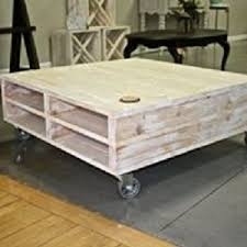 Rolling Coffee Table Rolling Pallet Coffee Table 36 X 36 X 16 Knude Products