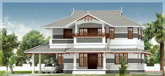2400 square feet sober colored kerala villa house design plans