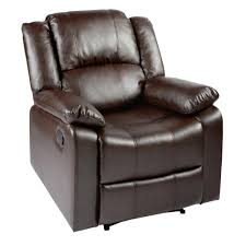 Faux Leather Recliner Parkview Brown Faux Leather Recliner Tree Shops Andthat