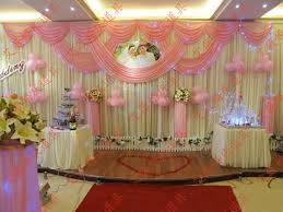 wedding backdrop on stage wholesale and retail 3x6m white and pink wedding backdrop curtain