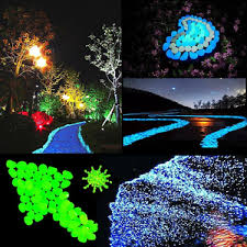 glow in the pebbles outee 150 pcs glow pebbles stones glow in the stones garden