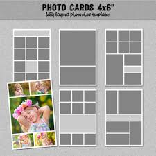 6 photo cards collage templates 4x6