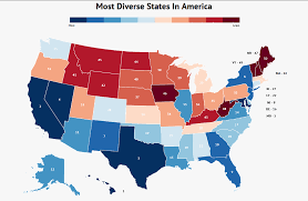 Blank Map Of Midwest States by These Are The 10 Most Diverse States In America Homesnacks