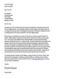 Camp Counselor Resume Career Counselor Cover Letter Cover Letter Example Casey Amore
