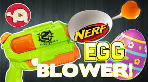 Decorating Easter Eggs Blowing Out by Easter Egg Decorating Hack Blow Out Egg Yolk With Nerf Blaster