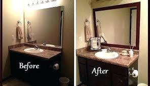 bathroom mirror trim ideas mirror borders best mirror border ideas on bathroom mirrors bathroom
