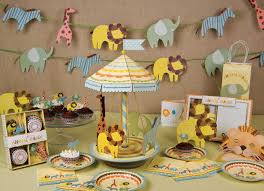baby shower centerpieces ideas for boys interior design awesome jungle theme baby shower table
